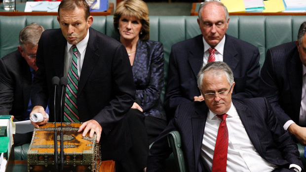 Article image for Tony Abbott's leadership under mounting pressure from Malcolm Turnbull and Julie Bishop