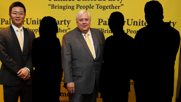 Article image for Clive Palmer says Glen Lazurus was a washed up athlete before he gave him a chance in politics