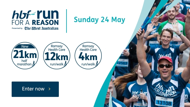 Article image for HBF Run for a Reason, presented by The West Australian