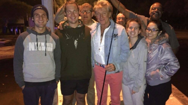 Article image for Rod Stewart pays surprise visit to two WA anglers