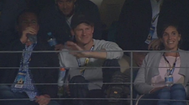Article image for Prince Harry cheers Eagles to giant win