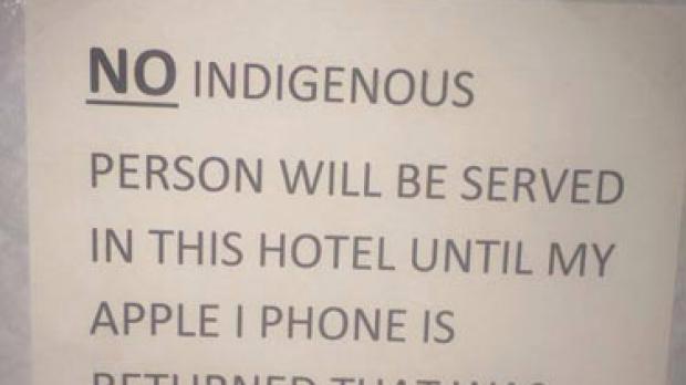 Article image for Pub bans indigenous patrons