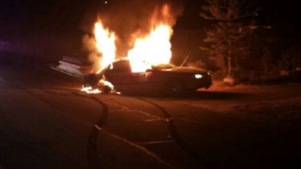 Article image for Hoon car burst in to flames