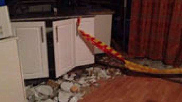Article image for 72yr old escapes kitchen crash