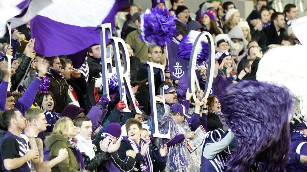 Article image for Old colours banned from Dockers cheer squad