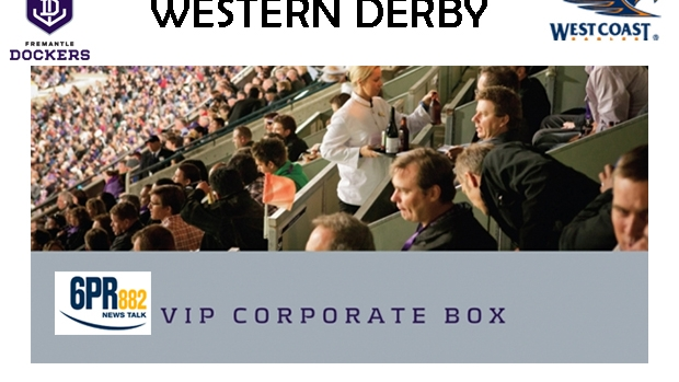 Article image for Win Tickets to 6PR's Corporate Box for the Western Derby!