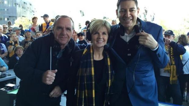 Article image for Surprise, surprise … Julie Bishop backs Eagles to win!