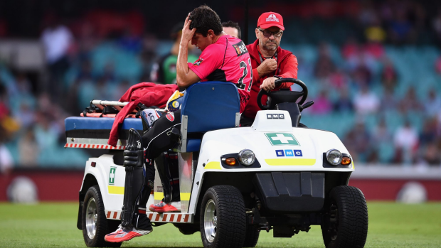 Article image for Injury to captain Moises Henriques further dampens Sydney Sixers loss
