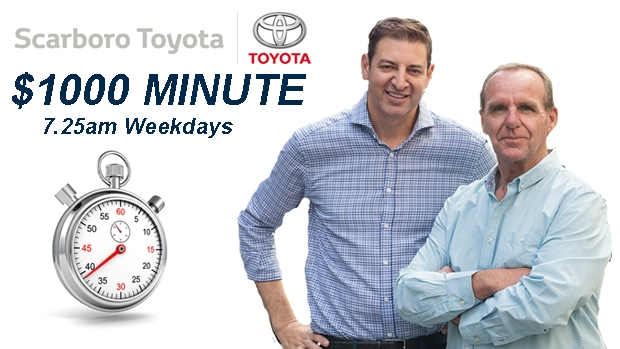 Article image for $1000 Minute, thanks to Scarboro Toyota