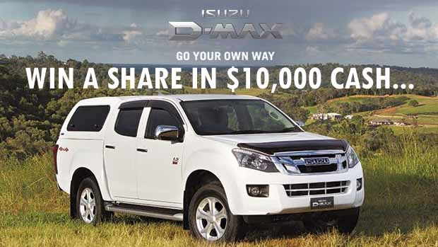 Article image for Win a share in $10,000, thanks to the Isuzu D-Max Tour Mate Ute