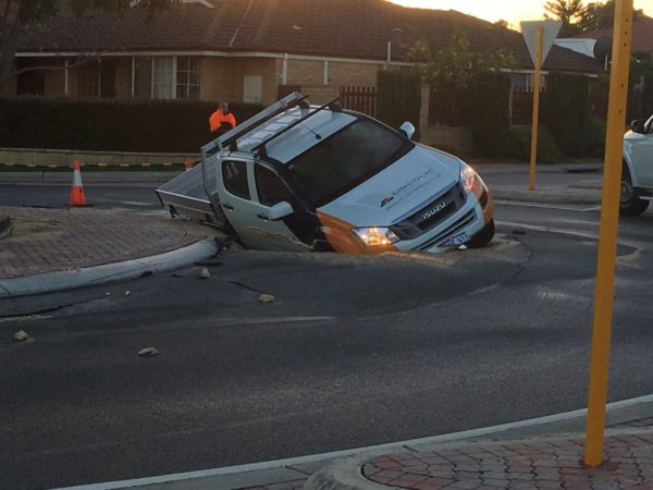 """Article image for """"How deep can I go?"""" The man who drove into the Wanneroo sinkhole"""