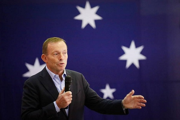 Tony Abbott with Oliver Peterson