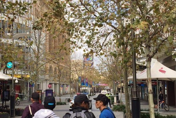 Murray Street Mall on lockdown