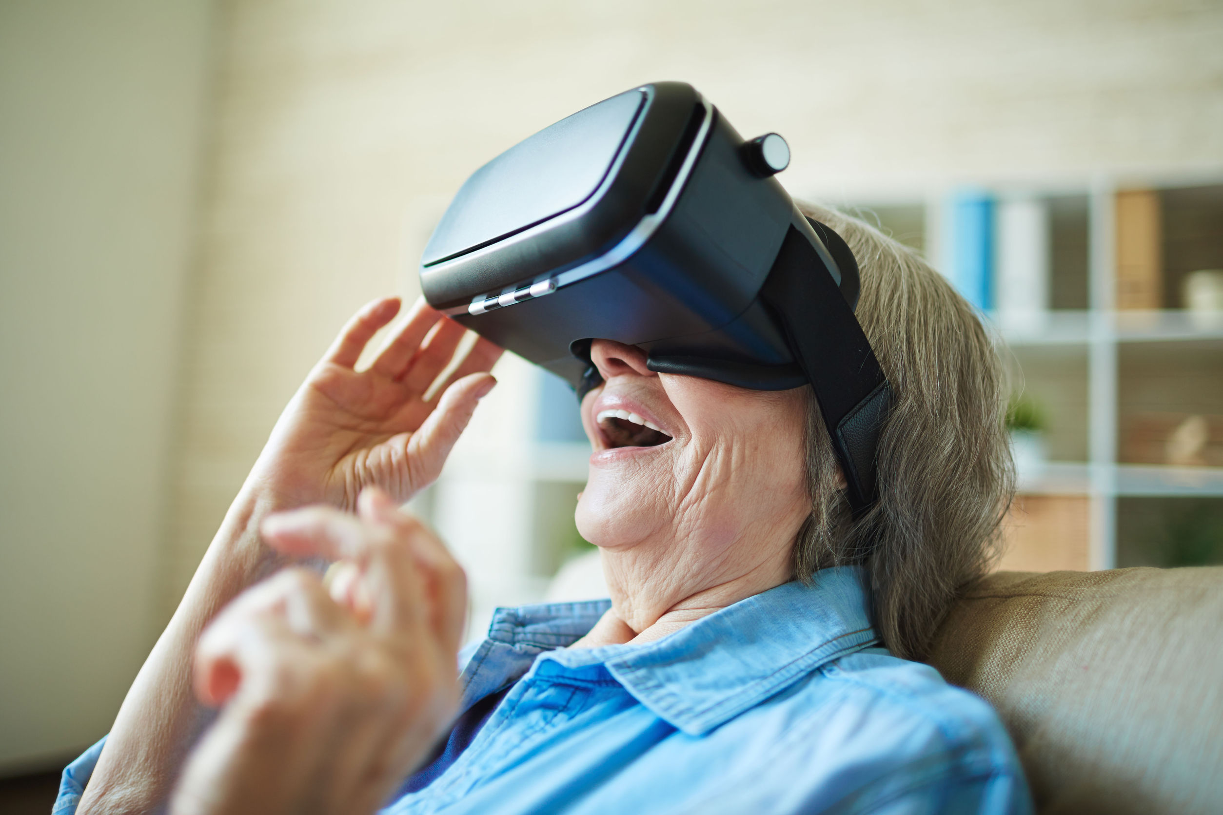 Virtual reality to help the lonely