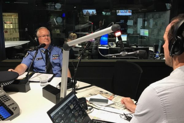 Police Commissioner Chris Dawson on Mornings