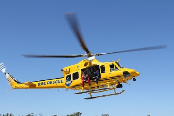 Bunbury-based rescue helicopter saved