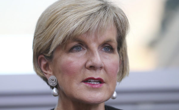 Julie Bishop resigns