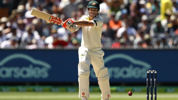 Article image for Warner, Australia make flying start at MCG