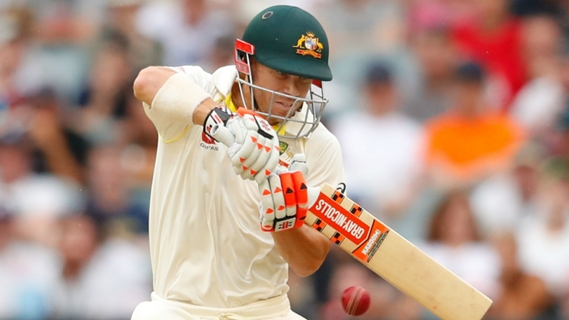 Article image for Warner digs deep as rain halts England