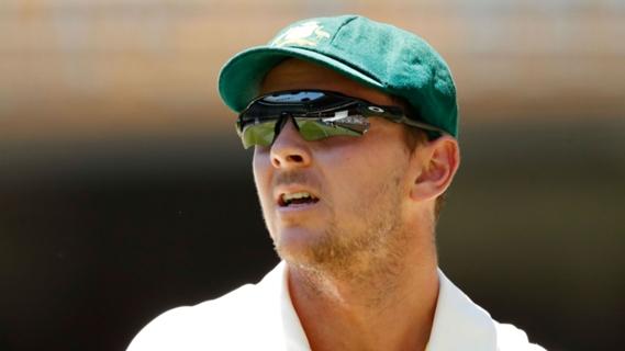 Article image for Hazlewood blames 'lazy' batting for Australia's MCG collapse