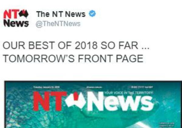NT headlines make headlines