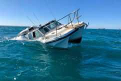 Sinking boat survivor escapes with only his car keys