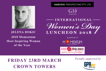 Win tickets to the International Women's Day Luncheon