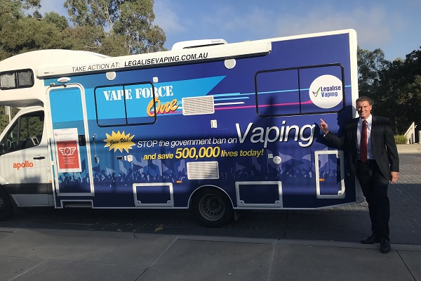 Vape Force One arrives in Canberra
