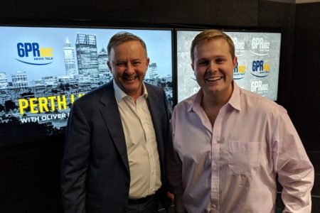 Anthony Albanese lands in Perth