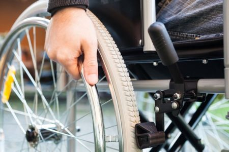 Wheelchair-user living in fear