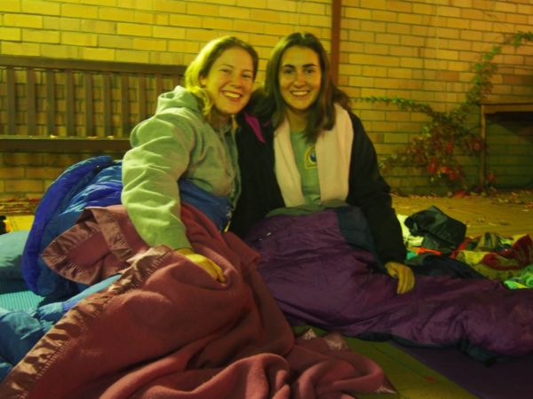 Sleeping out for the people sleeping rough