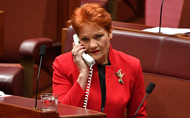 Pauline Hanson in the Studio