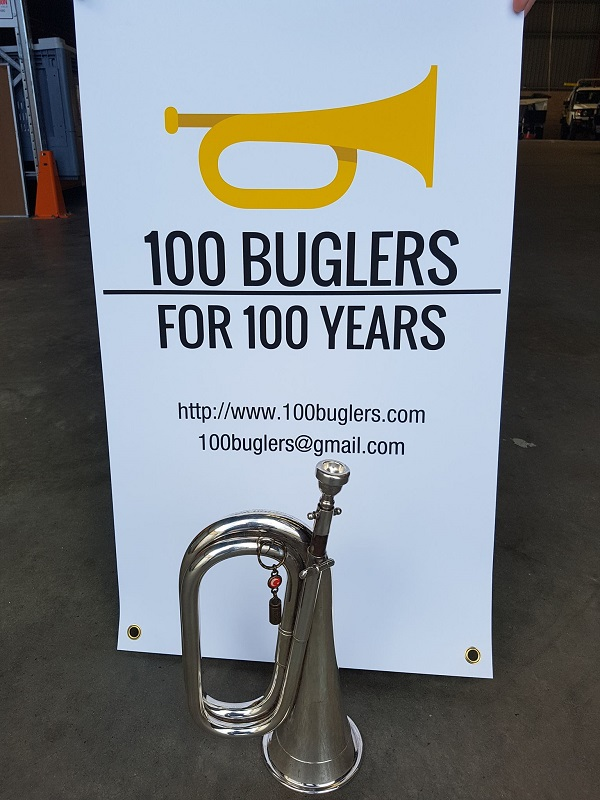 100 buglers wanted for 100th anniversary
