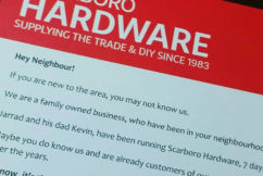 Hardware business uses old method to make new plea to customers