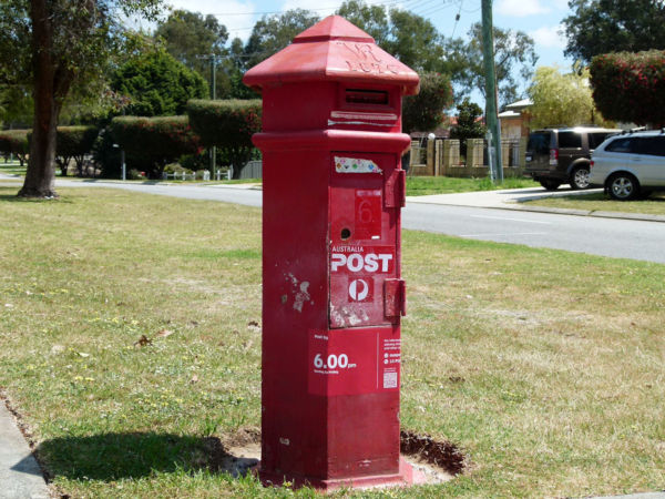 Bassendean post box Heritage listed