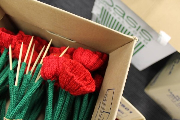 64,000 knitted poppies ready for Remembrance Day