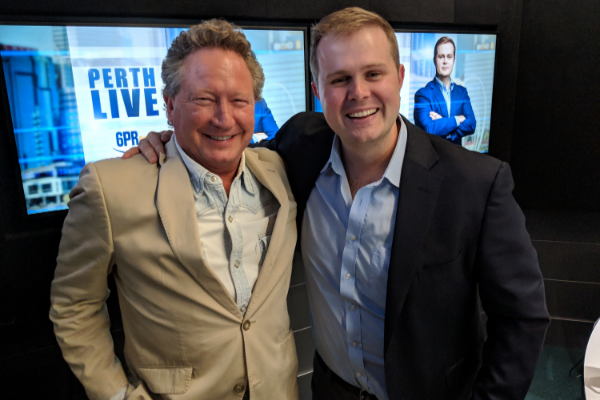 Andrew Forrest in the Studio for Perth LIVE