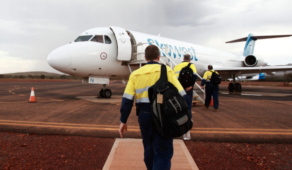 Article image for FIFO workers brawl halts plane