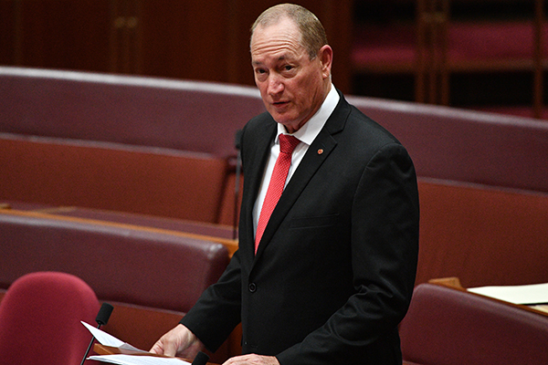 "Senator Fraser Anning: ""They were just everyday Australians sick and tired of being attacked in their homes"""