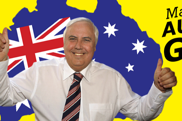 Have you had a text from Clive Palmer?