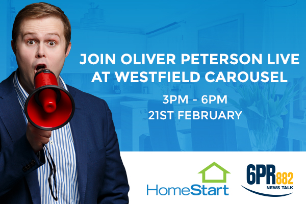 Join Oliver Peterson live at Westfield Carousel!