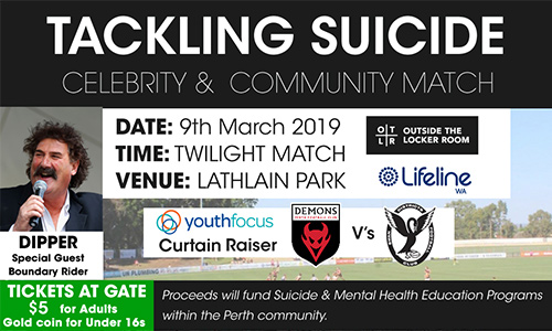 Tackling Suicide Celebrity & Community Match