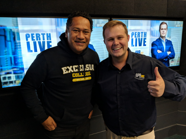 Jay Laga'aia In The Studio With Perth LIVE
