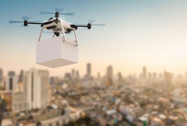 Delivery drones take flight