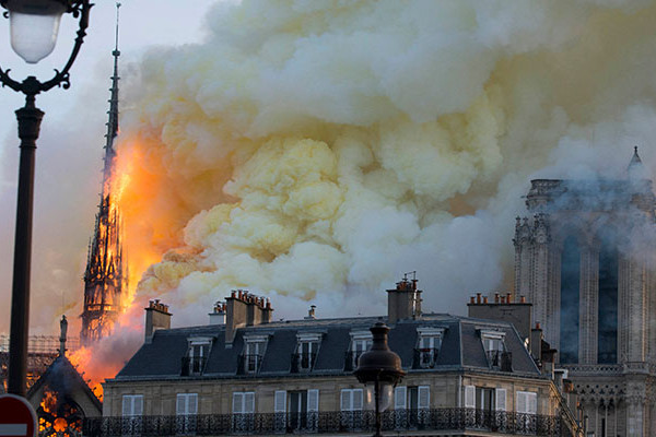 Article image for Notre Dame fire, an Aussie witness