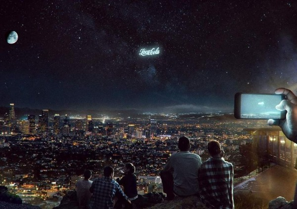 Pepsi says they could advertise in the night sky with satellites