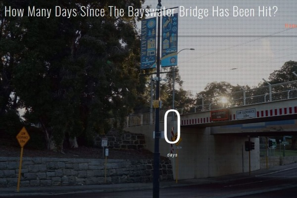 The Bayswater Bridge took ANOTHER whack – what is going on here?
