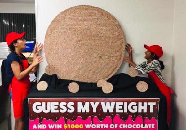 WA chocolatier makes world's largest choc freckle: how much do you think it weighs?