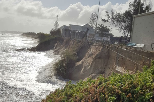 Fears for Port Beach buildings after severe erosion