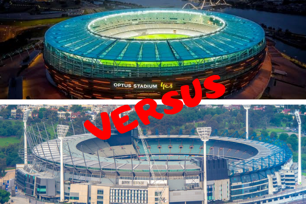 Perth LIVE and 3AW go head-to-head over Optus Stadium